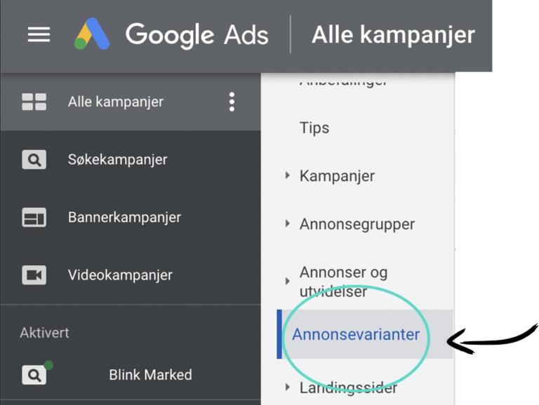 Google ads annonsevarianter